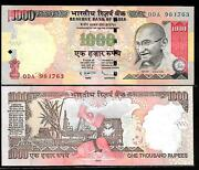 J-32 Rs 1000/- India Banknote Withdrawn Sign Issue Signed By Subharao R 2010