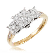 7500 Wow 1cttw Si 3-stone Real Diamond Engagement Ring 14k Gold No Reserve