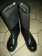 German Army Felt Leather Boots, Winter Boots,combat Boots,new,12,5 Inch Sole Lgt