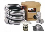 5 Flex-all Single Ply All Fuel Stainless Steel Chimney Liner Kits