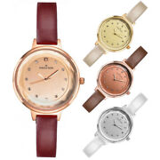 Jordan Kerr Womenand039s Watch Size S Thin Strap Crystal Studded Hour Marks Gi...