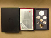 1988 Canada 7 Coin Double Dollar Canadian Proof Set With Coa Free Ship U.s.a.