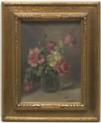 Frederick James Boston American1855 -1932 Flowers 1928.oil On Canvas Signed