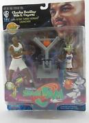 Space Jam Charles Barkley / Wile E. Coyote Action Figure Set Acme Turbo Launcher
