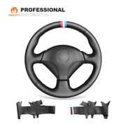 Mewant Black Leather Car Steering Wheel Cover For Honda S2000 Civic Si Insight
