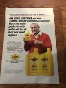 Vintage Advertising Pennzoil And Arnold Palmer 1980andrsquos