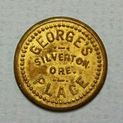 Silverton Oregon Georgeand039s Place Good For 5c Trade Brass 21mm Token