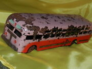 Rare Antique Soviet Old Vtg Russian Toy 1940s Ussr Car Bus Wind-up СССР Metal