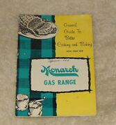 Monarch Guide Gas Oven Range Stove Broil Roast Recipe Cook Book Manual Booklet