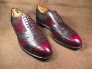 Johnston And Murphy Aristocraft Two Leather Cap Toe Golf Shoes Size 9 D/b