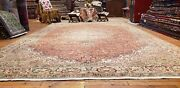 Exquisite Antique 1940and039s Wool Pile Natural Dye Legendary Hereke Rug 8x12ft