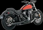 Vance And Hines Exhaust Black Pro Pipe 2012-2017 Harley Softail. 47527psm
