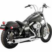 Vance And Hines Pro Pipe Chrome 2-1 Exhaust Harley Dyna 12-15 Except Fld