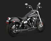 Vance And Hines Pro Pipe Black Exhaust 2012-2016 Harley Dyna 47525