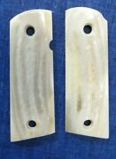 1911 Compact Officers Elk Stag Grips Fits Colt Sandw Clones Usa Shipper