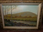 Ca 1930 Original Oil Painting Henry A. Long San Diego County California