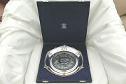 Rare Cased Hm Sterling Silver Waterloo Medal Salver Obverse
