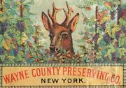 Lot Of 4 1870and039s Wayne County Preserving Co. Ny Tin Can Label Victorian Card Ands