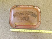 Vintage Royal Crown Cola Small Metal Convex Sign Great Size 12 X 9