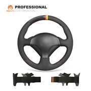 Black Suede Car Steering Wheel Cover For Honda S2000 Civic Si Insight Acura Rsx
