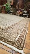 Beautiful Antique Cr1940and039s Intricate Floral 7and0398x11and03910 Wool Pile Hereke Rug