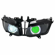 White Angel And Green Demon Eyes Hid Headlight Assembly For Honda Cbr600rr 2013-up