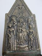 Antique Silver Holy Water Font