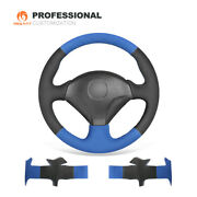Blue Black Suede Car Steering Wheel Cover For Honda S2000 Civic Si Insight