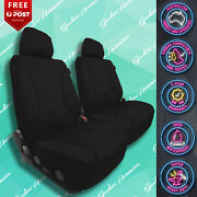 For Daihatsu Handi Strong Canvas All Over Waterproof Black Car Front Seat Covers