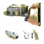1960-66 Chevy Truck C10 C20 9 Power Brake Booster Kit Side Disc/drum 3q1a1