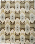 Contemporary Kelim Rug Wool And Silk - 8and039 X 10and039