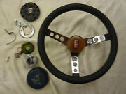 Olds Oldsmobile Custom Made Cherry Wood Horn Center And Complete Steering Wheel