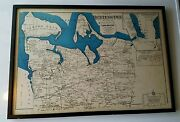 Vintage Maptown Of Huntington Suffolk County Long Island Ny Beers Comstock Cline