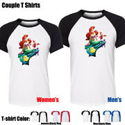 The Little Mermaid Ariel Couples Print T-shirts Womens Mens Graphic Tee Tops