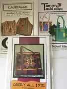 Lot Of 3 Tote Purse Sewing Quilting Patterns Nip Purse Tote Carry All