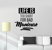 Vinyl Wall Decal Nail Salon Quote Manicure Hands Nails Art Stickers Mural G392