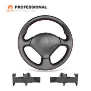 Black Leather Suede Car Steering Wheel Cover For Honda S2000 Civic Si Insight