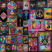 Tapestry Poster Small Collage Multi Color Wall Hanging Fabulous Cotton Textile