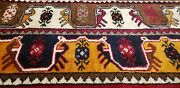 Rare Antique Early 1940-1950s Natural Color Wool Pile Runner Rug 3and0393 X 8and0399