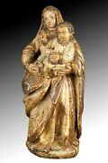 Virgin With Child Jesus. Spain Late 17th-early 18th Century