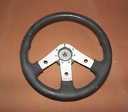 Dp3c15837 Used Padded Leather Look Wrapped Boat Steering Wheel