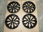 1 Brand New Set Camry 2015 2016 2017 Hubcaps 16 Wheel Covers Black 61175