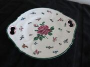 Serving Plate Cowell And Hubbard Antique 11 Flower Austria