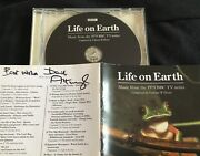 Life On Earth Bbc Tv Cd Soundtrack Hand Signed By David Attenborough
