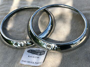 New 1947 To 1953 Chevrolet Truck Replacement Stainless Steel Head Light Rings