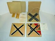 American Flyer 3 S Scale 90o Cross Tracks With Rare Inserts Bag Track Clips More