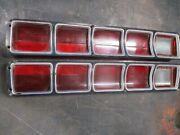 72 Plymouth Fury Iii 3 Tail Lights Left Right Oem Set Mint Shape Pair Must See