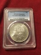 1882 S Morgan Silver Dollar Pcgs Uncirculated Details  Toning On Back
