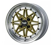 Work Equip03 Wheels Gold 14x6j +7 Set Of 4 For Toyota Ae86 Etc. From Japan