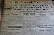 New York Times Facsimile Bound Edition April 25 -june 27 1945 Approx 64 Papers